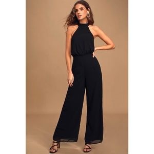 "Lulus ""City Dreamin"" Cute Halter Neck Tie Jumpsuit"